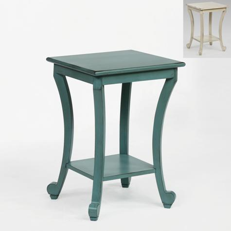 7918 Aqua Or Ivory Accent Table $50