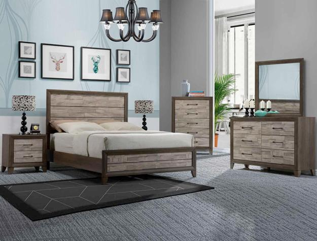 Beau 3300 HB, FB, Rails, Dresser, Mirror, Chest, And FREE Night Stand Queen  $699.99 King $769.99